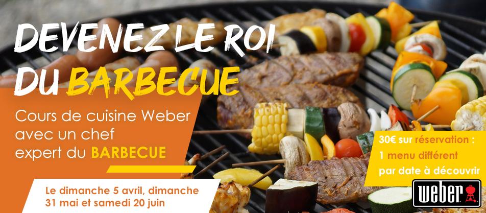 Devenez le roi du barbecue avec les cours de cuisine Weber !