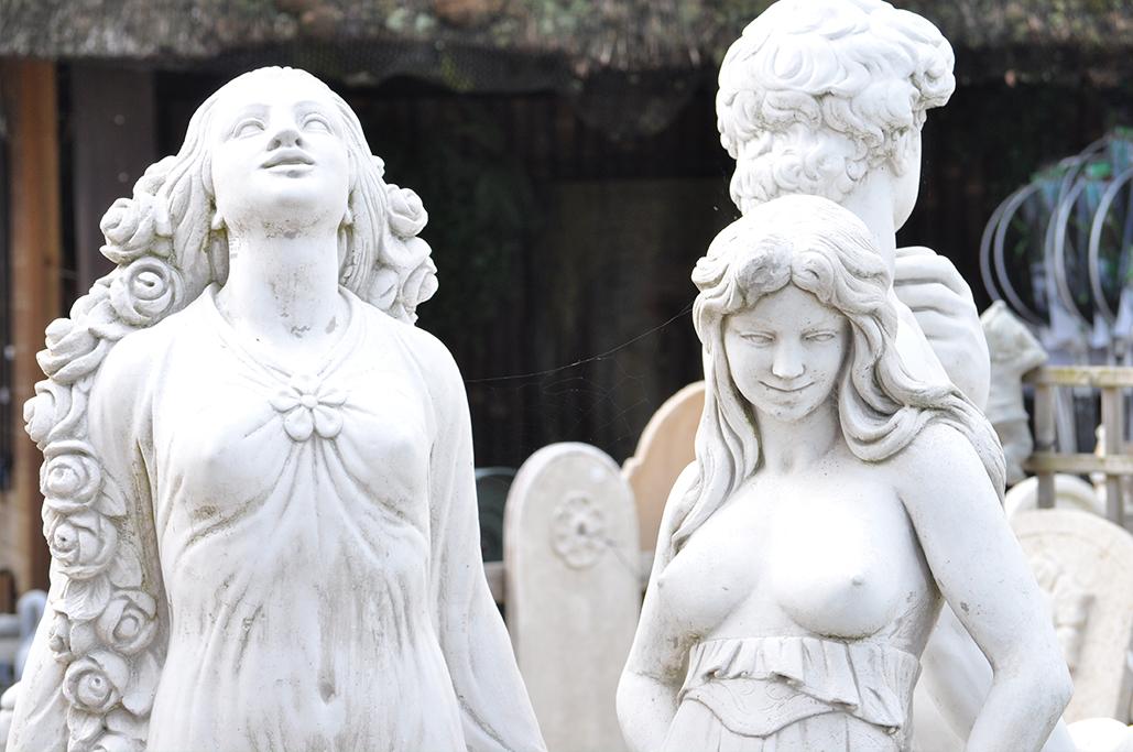 statues jardin Jardinerie Derly